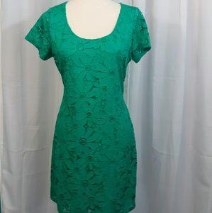 Tiana B. Floral lace bodycon dress medium NWT